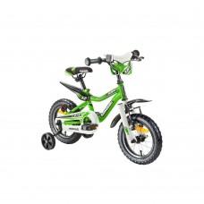 """12"""" Vaikiškas dviratis 2-4 ratų (iki 35kg, ūgis 90-110cm) Kawasaki Juniso"""
