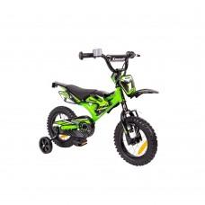 """12"""" Vaikiškas dviratis 2-4 ratų (iki 35kg, ūgis 90-110cm) Kawasaki Kasaii"""