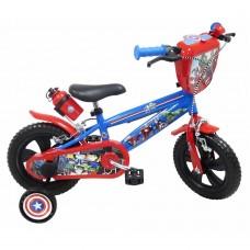 """12"""" Vaikiškas dviratis 2-4 ratų (iki 40kg, ūgis 90-110cm) Avengers"""