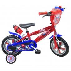 """12"""" Vaikiškas dviratis 2-4 ratų (iki 40kg, ūgis 90-110cm) Spiderman"""