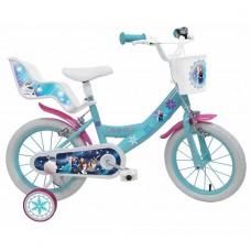 """14"""" Vaikiškas dviratis 2-4 ratų (iki 50kg, ūgis 95-115cm) Frozen"""
