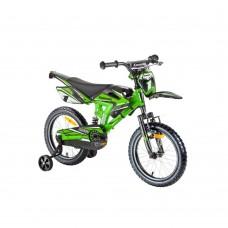 """16"""" Vaikiškas dviratis 2-4 ratų (iki 45kg, ūgis 100-125cm) Kawasaki Sairensa"""