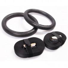 ABS gimnastikos žiedai su diržais HY2402