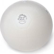 Aerobikos Kamuolys PEZZI Softball MAXAFE 22 cm, Baltas
