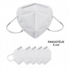 Apsauginė Veido Kaukė - Respiratorius KN95-K 3D, 5 vnt
