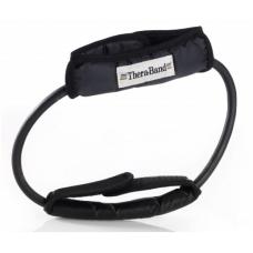 Apvali elastinė juosta su laikikliais Thera-band, juoda