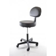 Apvali kėdė RESTPRO MS01 juoda, su atlošu