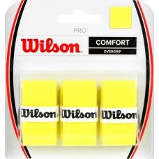 Apvija lauko teniso raketei WILSON PRO COMFORT OVERGRIP geltona /3 vnt/ /WRZ4014YE