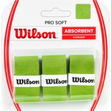 Apvija lauko teniso raketei WILSON PRO SOFT ABSORBENT OVERGRIP žalia /3 vnt./ /WRZ4040LI