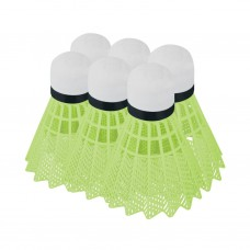 Badmintono plunksnelės Spokey FLAME green
