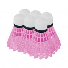 Badmintono plunksnelės Spokey FLAME pink