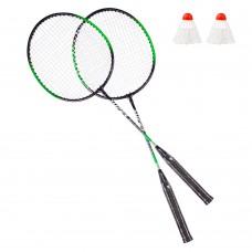 Badmintono rakečių komplektas Spartan - Green