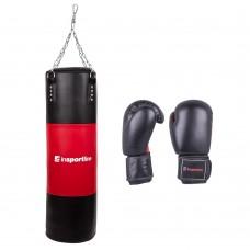 Bokso maišas 50-100 kg su bokso pirštinėmis inSPORTline