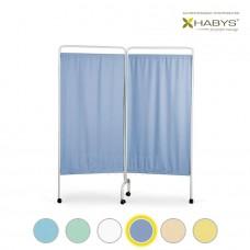 Dviejų dalių širma HABYS Parawan Standard II Blue