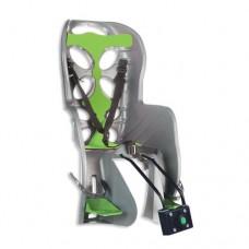 Dviračio kėdutė Nfun Curioso ant dviračio galo max 22 kg pilka/žalia