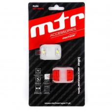 Dviračio lempučių rinkinys METEOR FLEX white