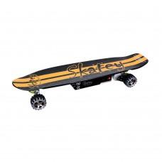 Elektrinė riedlentė Longboard Skatey 400 Black-Orange