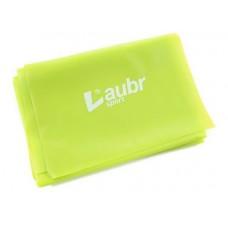 Gimnastikos juosta LAUBR Sport, 150 x 15 cm, 0,35 mm, geltonos sp.