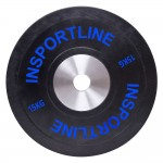 Guminis svoris grifui inSPORTline Bumper Plate 15kg