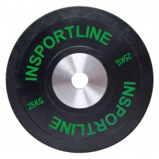 Guminis svoris grifui inSPORTline Bumper Plate 25kg