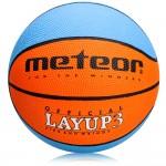 Krepšinio kamuolys Meteor Layup 3 ruda/mėlyna