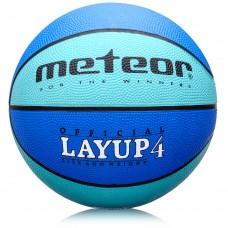 Krepšinio kamuolys METEOR Layup #4 Blue