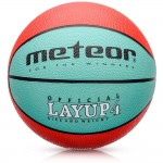 Krepšinio kamuolys METEOR LAYUP #4 red-green