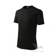 Marškinėliai ADLER Basic Black, vaikiški