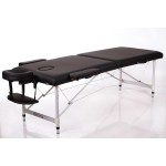 Masažo stalas RESTPRO Alu 2 Black L dydis - sudedamas