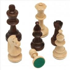 Mediniai šachmatai STAUNTON No7 maišelyje