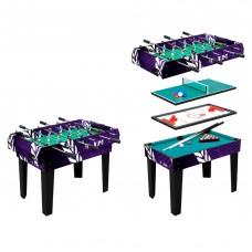Multifunkcinis žaidimų stalas Worker 4-in-1 81x113x62cm