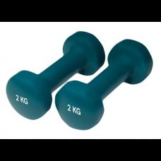 Neopreniniai Fitneso Hanteliai Yate 2vnt. x 2kg