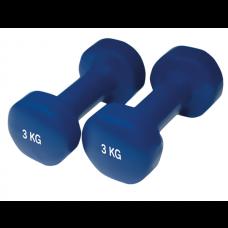 Neopreniniai Fitneso Hanteliai Yate 2vnt. x 3kg
