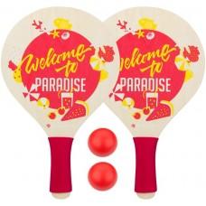 Paplūdimio teniso rinkinys WAIMEA PARADISE raudonas