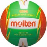 Paplūdimio tinklinio kamuolys MOLTEN V5B1500 žalia/raudona