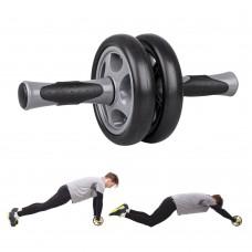 Pilvo preso treniruoklis - dvigubas ratukas inSPORTline Ab Roller AR300 (iki 100kg)