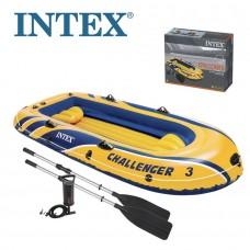 Pripučiama valtis INTEX Challenger 3 Set, 295cm x 137cm x 43cm