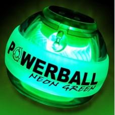 Rankos treniruoklis NSD POWERBALL Green LED Pro 250 Hz