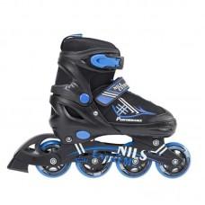 Riedučiai - pačiūžos 2in1 Nils Extreme Black/Blue NH7104 34-37