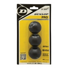 Skvošo kamuoliukai DUNLOP PRO 2 yellow dots