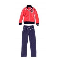 Sportinis kostiumas mergaitėms Q3 GREACE 27948, raudona/mėlyna