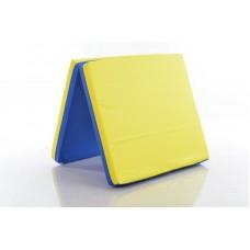 Sporto kilimėlis, 66 x 120 cm, mėlyna/ geltona