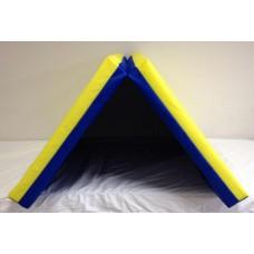 Sporto kilimėlis, 80 x 120 cm, mėlyna-geltona