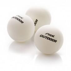 Stalo teniso kamuoliukai Stiga Outdoor - white