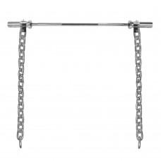 Sunkumų kilnojimo grandinės + grifas inSPORTline Chainbos Set 2x25kg