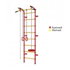 Švediška gimnastikos sienelė Pioner-C1H, raudona/geltona