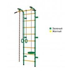 Švediška gimnastikos sienelė Pioner-C1H, žalia/geltona