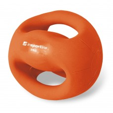 Svorinis kamuolys su rankenomis inSPORTline Grab Me 2 kg