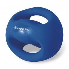 Svorinis kamuolys su rankenomis inSPORTline Grab Me 4 kg
