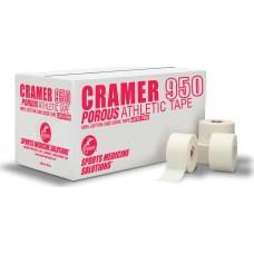 Teipas atletinis neelastinis CRAMER 950 3. 8cmX13.7m baltas
